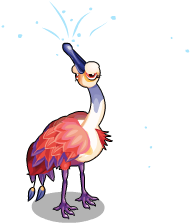 Rosy spoonbill an