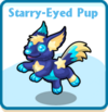 Starry-eyed pup card