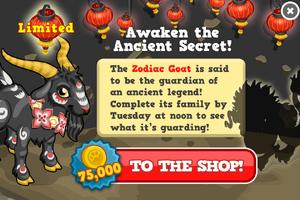 Zodiac goat modal