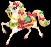 Carousel horse single