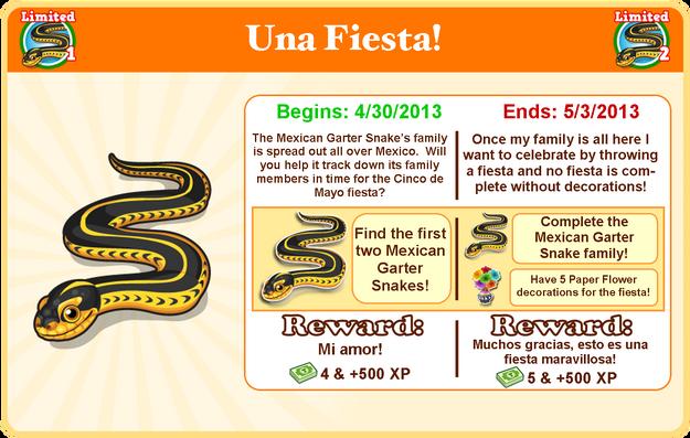 Mexican garter snake goal modal