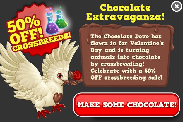 Valentines half breed sale modal