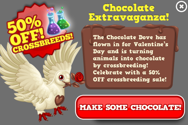 Valentines half breed sale modal
