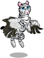 Winged white tiger an