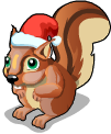 Christmas village squirrel static