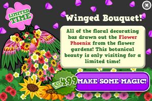 Flower phoenix modal