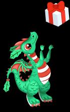 Mistletoe dragon an