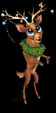 Ornament reindeer an