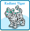 Radiant tiger card