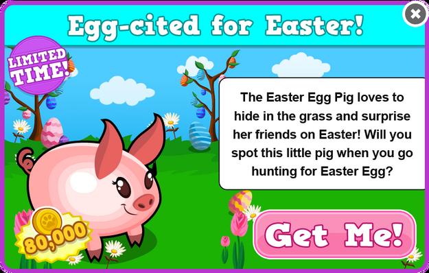 Easter egg pig modal