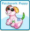 Patchwork puppy card