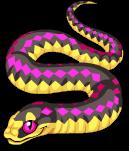 Pink snake static