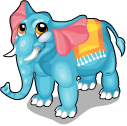 Aquamarine elephant static
