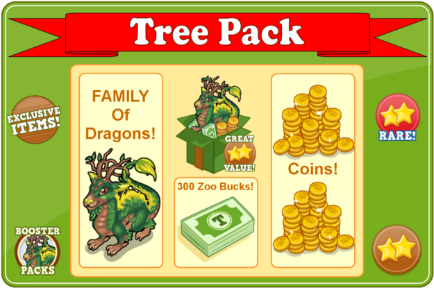 Forest dragon booster pack modal