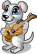 Guitar dog single