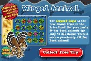 Leopard eagle prize pond free try modal