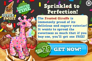 Frosted giraffe modal