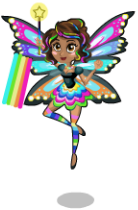 Rainbow glow fairy an
