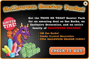 Booster pack halloween dragon modal