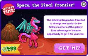 Orbiting dragon modal