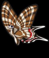 Zebra swallowtail butterfly single (butterflies)
