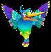 Iridescent hummingbird single