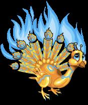 Gilded peacock an