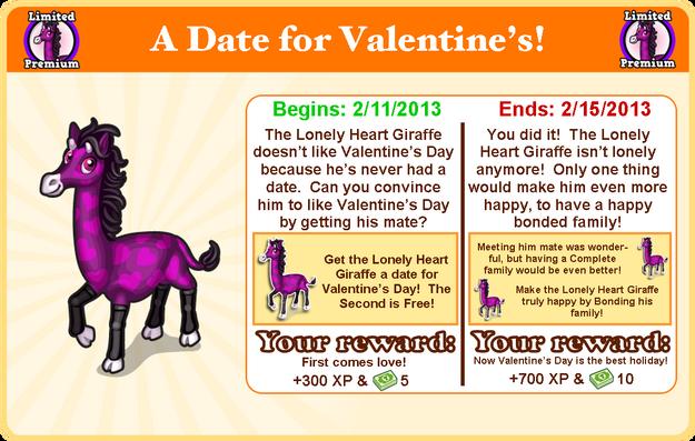 Lonely heart giraffe goal modal