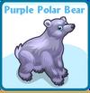 Purple polar bear card