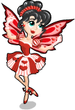 Queen of hearts fairy static