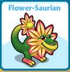 Flower-saurian card