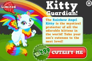 Rainbow angel kitty modal