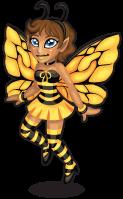 Honey bee fairy single