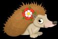 Tudor rose hedgehog static