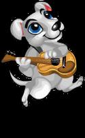 Guitar dog an