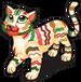 Ribbon candy tiger single