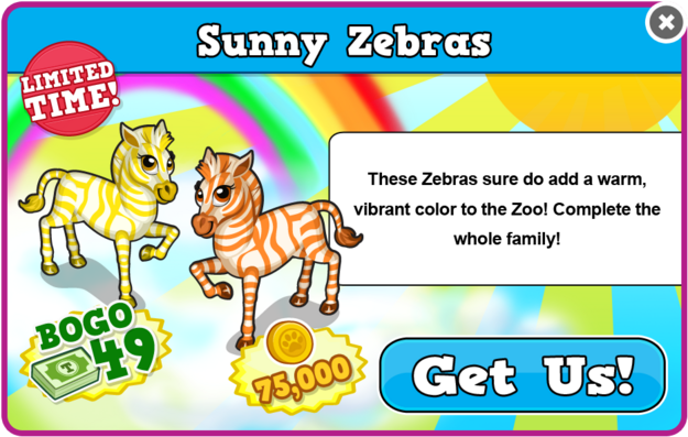 Yellow zebra modal