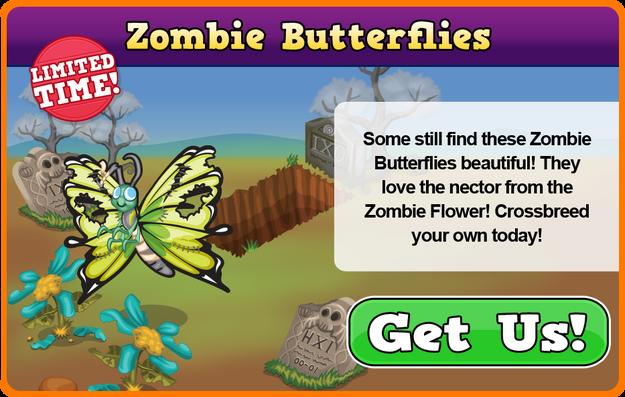 Zombie butterfly modal