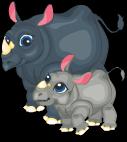 Black rhinoceros static