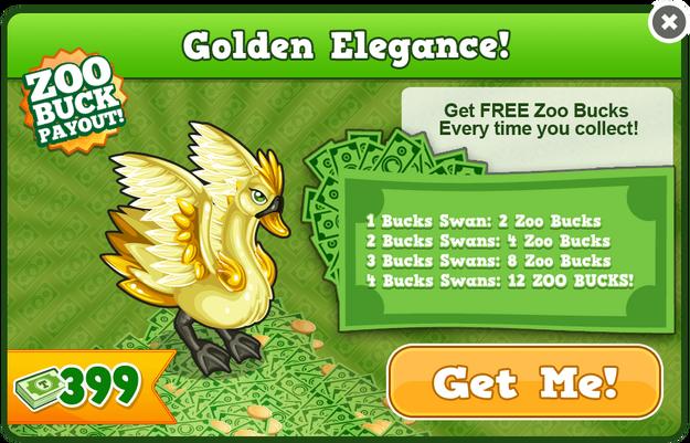 Golden bucks swan modal