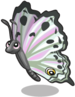 Pearlescent butterfly single