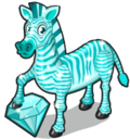 Blue zircon zebra single