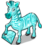 Blue zircon zebra single