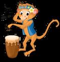 Drum circle monkey an