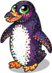 Pointilism penguin single