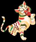 Ribbon candy tiger an