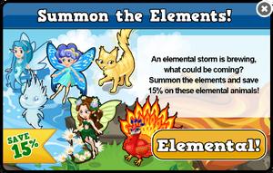 Elements sale modal