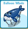 Balloon whale card