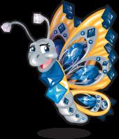 Benitoite butterfly single