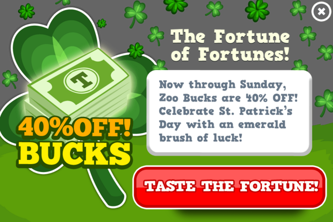 St patricks bucks sale modal